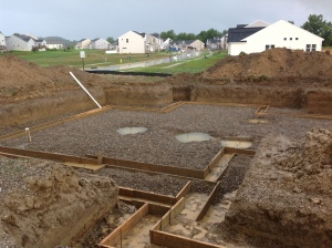 Foundation dug, footings formed